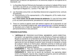 CIRCULAR INFORMATIVA DE CARÁCTER GENERAL No. 05 del 21 de febrero de 2.020