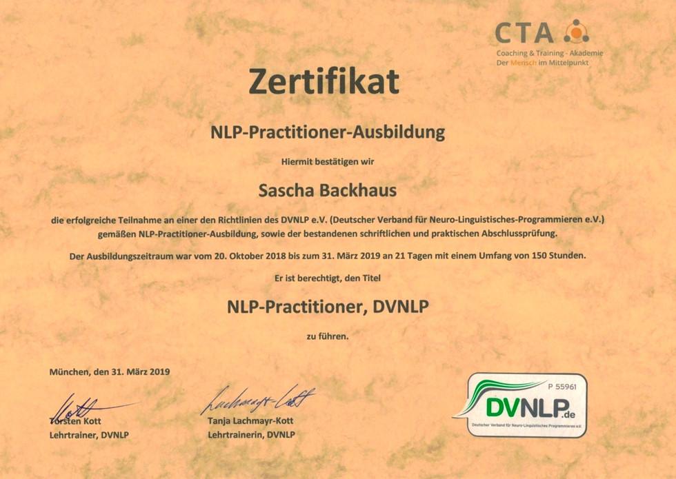 Zertifikat NLP
