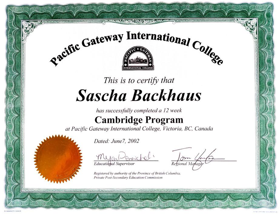 Cambridge Program, Canada