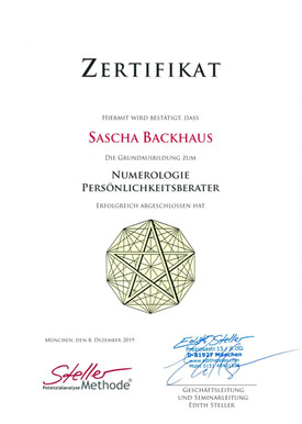Zertifikat Numerology - Berater