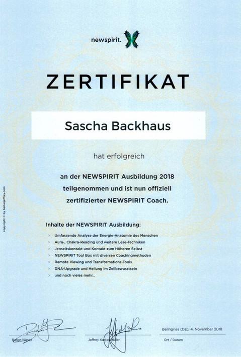 Zertifikat New Spirit Coach