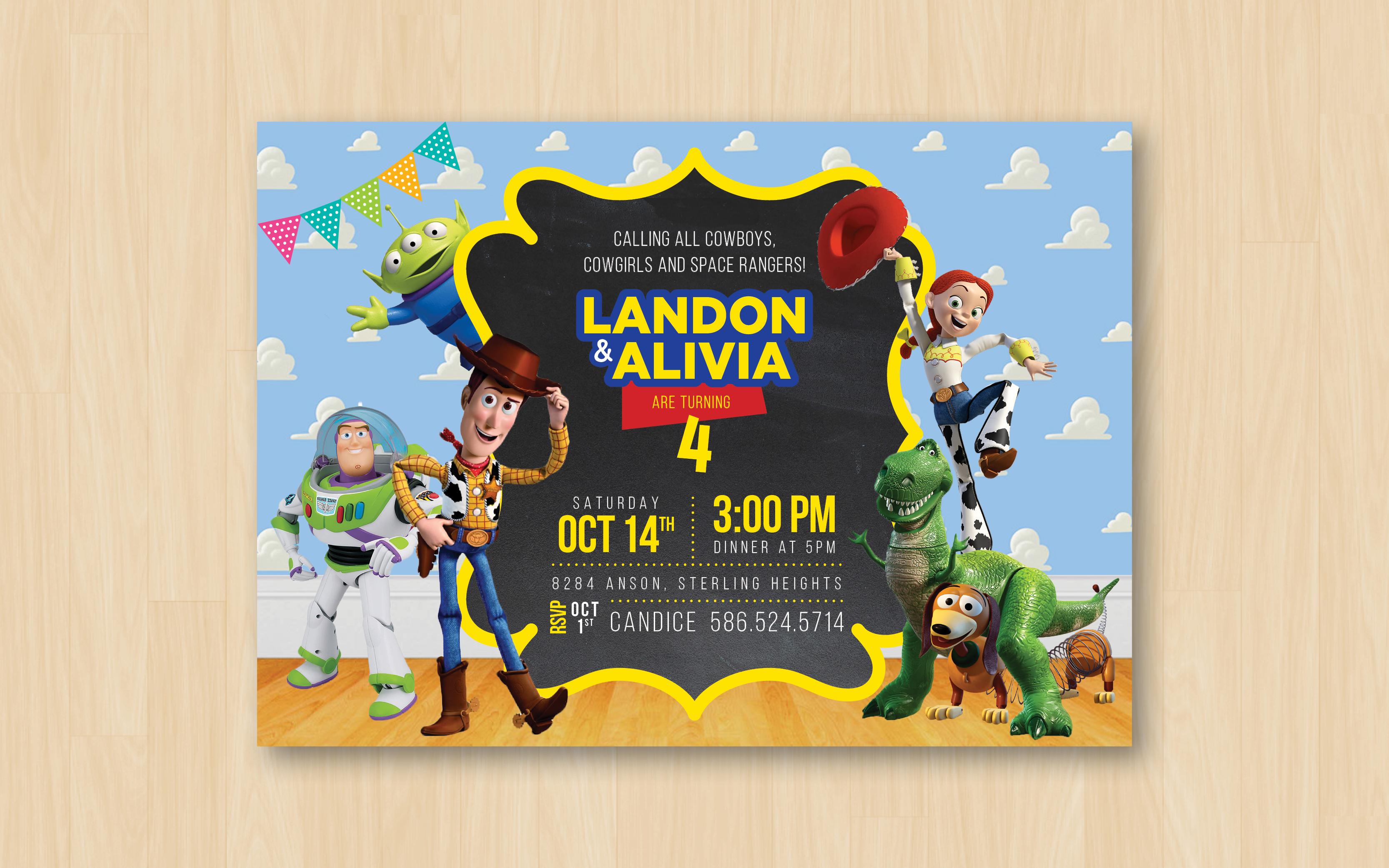 4th Birthday Invite