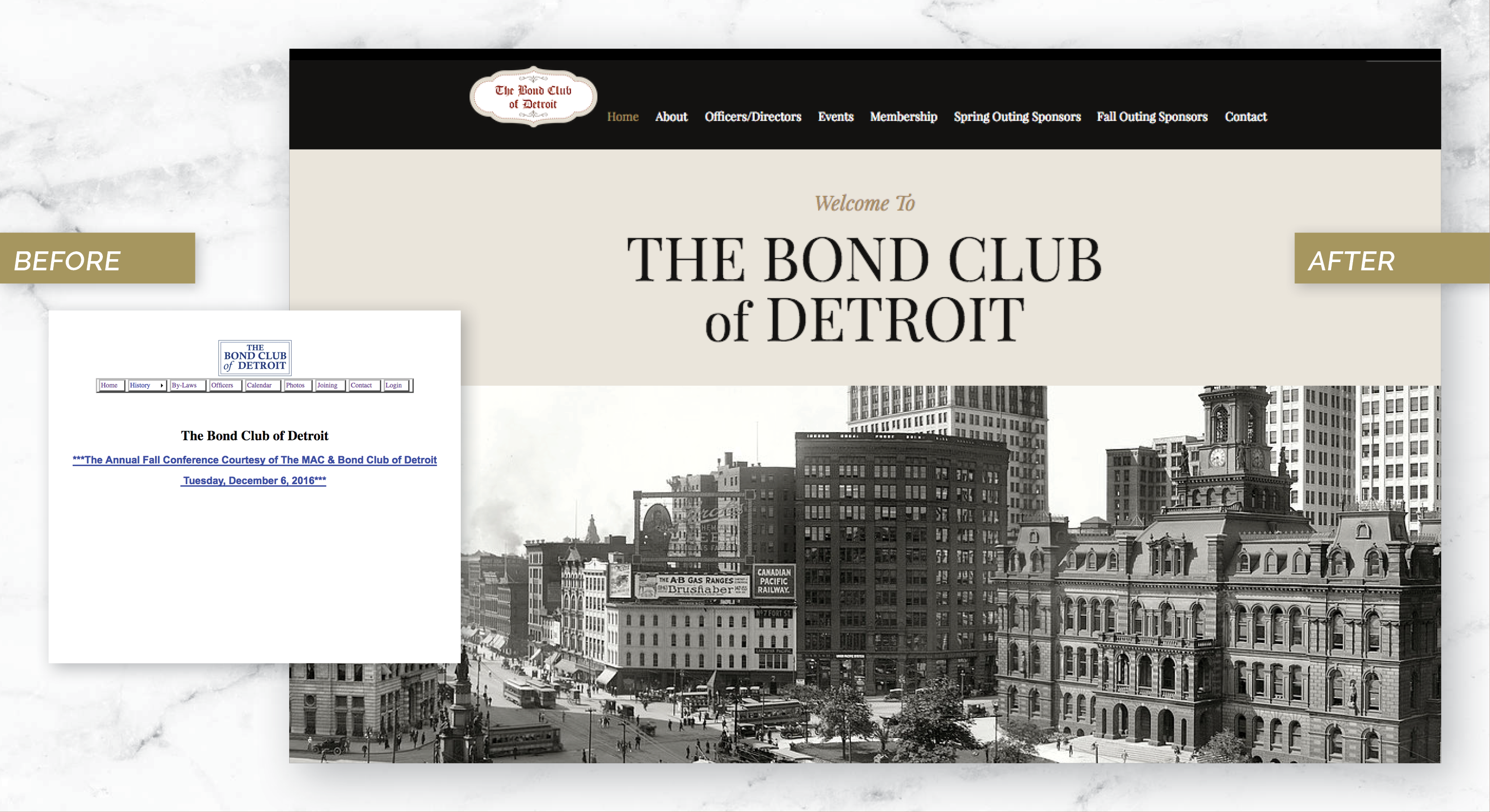 Detroit Bond Club Website Redesign