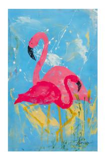 """Standing Flamingos - #4"""
