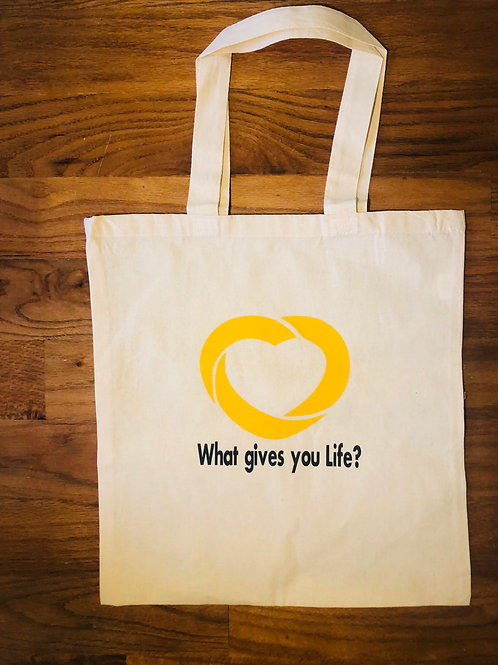 What Gives You Life? Canvas Tote