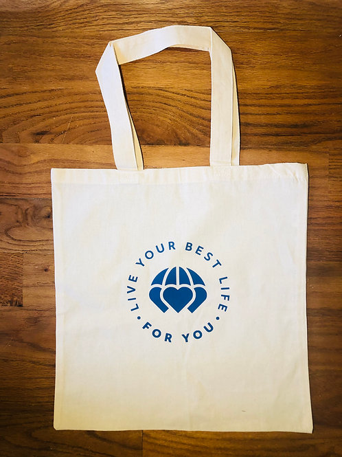 Live Your Best Life For You Canvas Tote