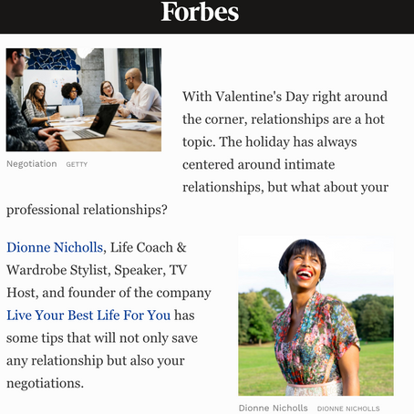 Check out my Feature in Forbes Magazine! Feeling the Love!
