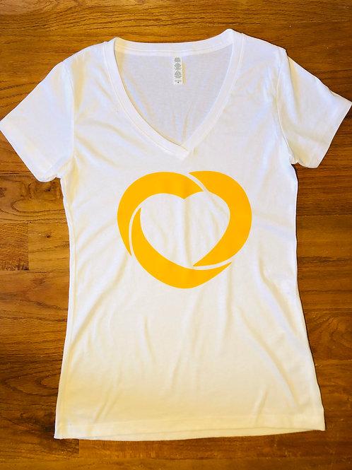LOVE Logo Ladies V-Neck Tee
