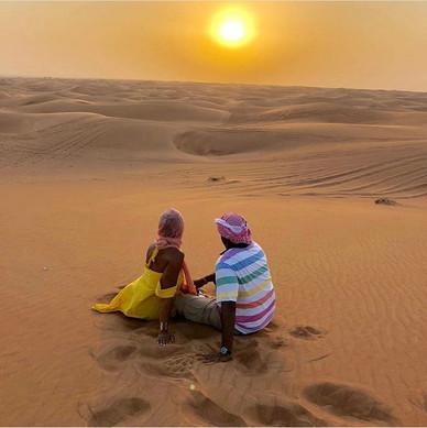 Dubai Dionne & David Looking at At Sunse