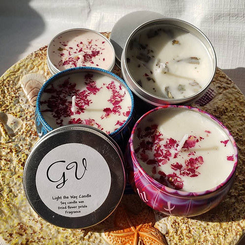 Goddess Vybes Floral Candles