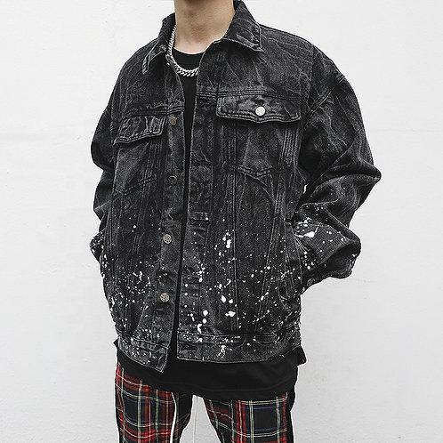 Dark Painted Denim Jacket