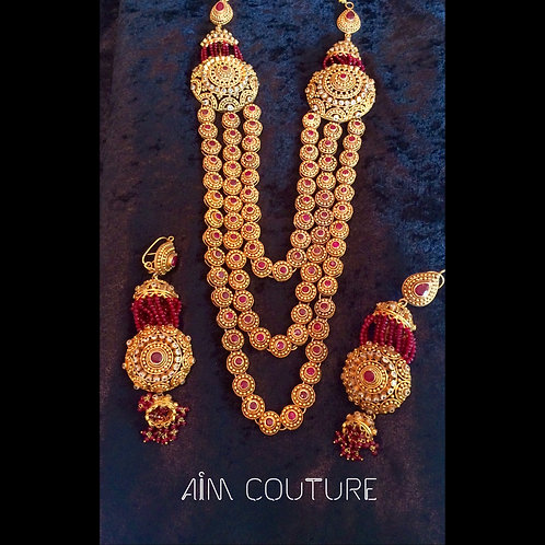 Sultana Rani Haar and earrings