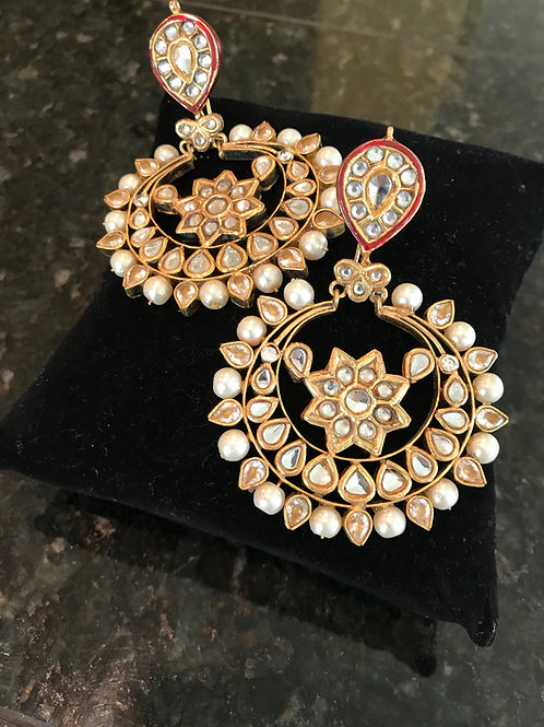 Chandni chand bali earrings