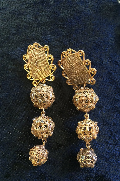 Passas 3-tier earrings