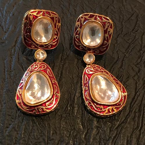 Fayd kundan meena Kari earrings