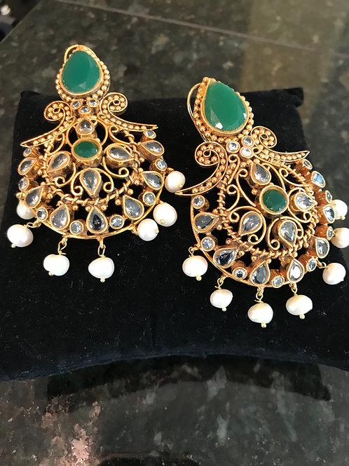 Hanna 22k gold plated Earrings
