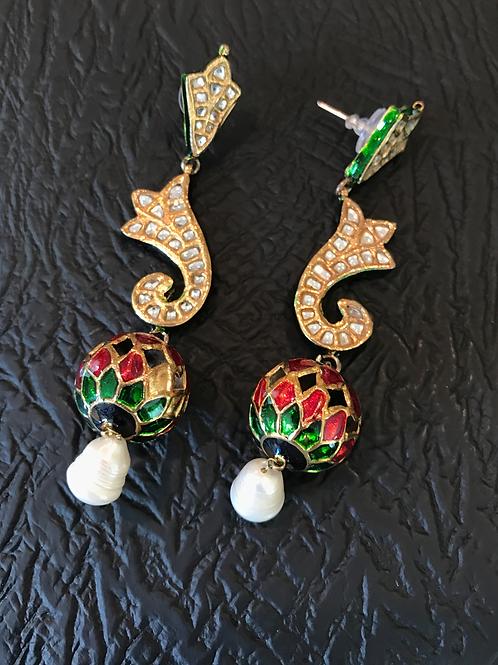 Aarzo meena Kari ball earrings