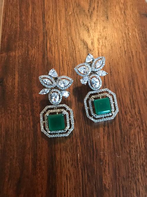 Jill Square Drop Emerald