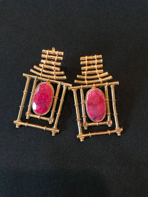 Ruby Hut Earrings