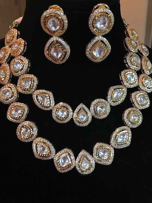 Olivia Gold Tone Kundan Necklace Set