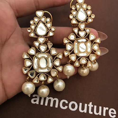 Rihanna kundan earrings