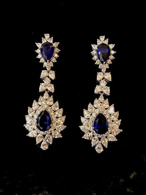 Sapphire Tear drop Earrings