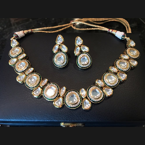 Gulrukh Kundan Necklace and Earrings