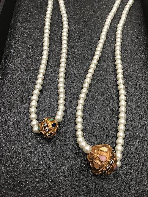 Azra meena ball necklace