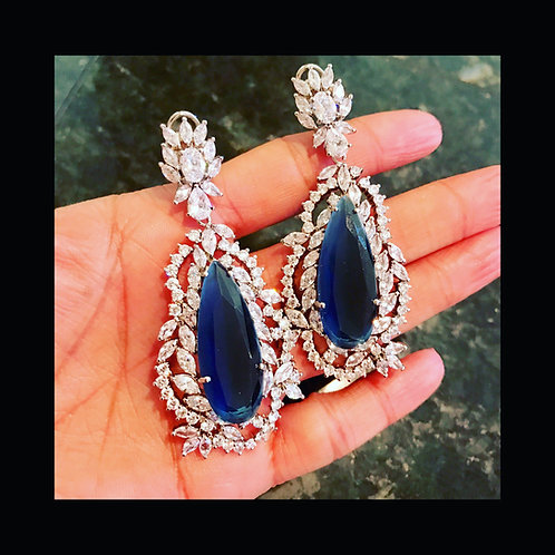 Gigi Swarovski and Sapphire Earrings