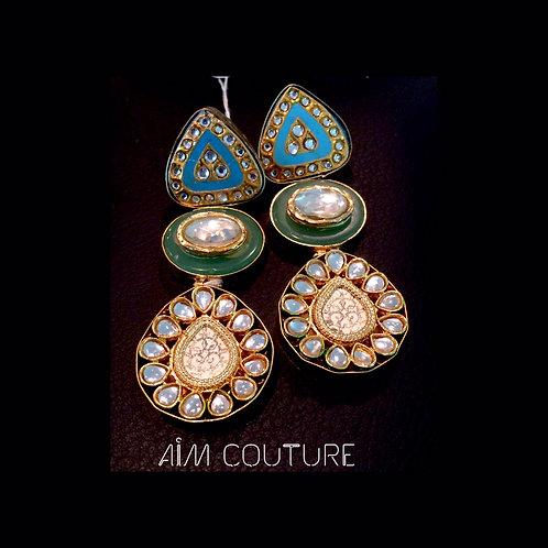 Amrapali Kundan Earrings