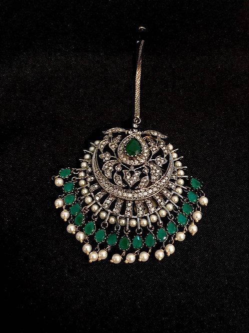 Turkish Emerald & Pearl Tikka