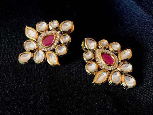 Ruby Kundan Earrings