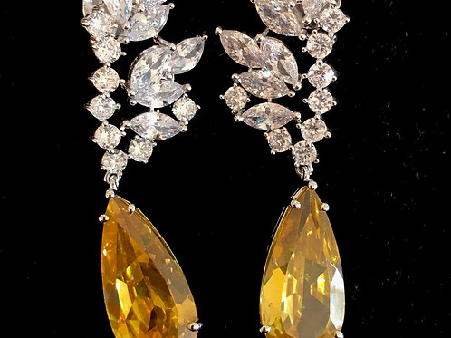 Maddy Swarovski and Citrine Earrings