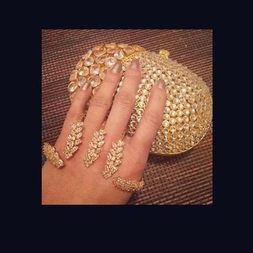 Gold toned palm bracelet