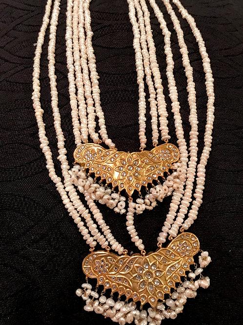 Miley Long Kundan Real Pearls Necklace