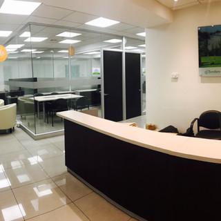 recepción oficina