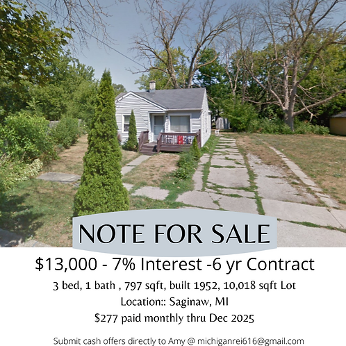 Randolph St Note for Sale