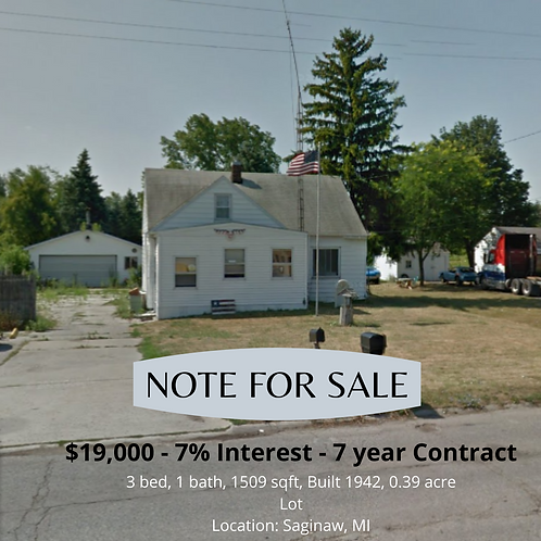 Hess Ave Note for Sale