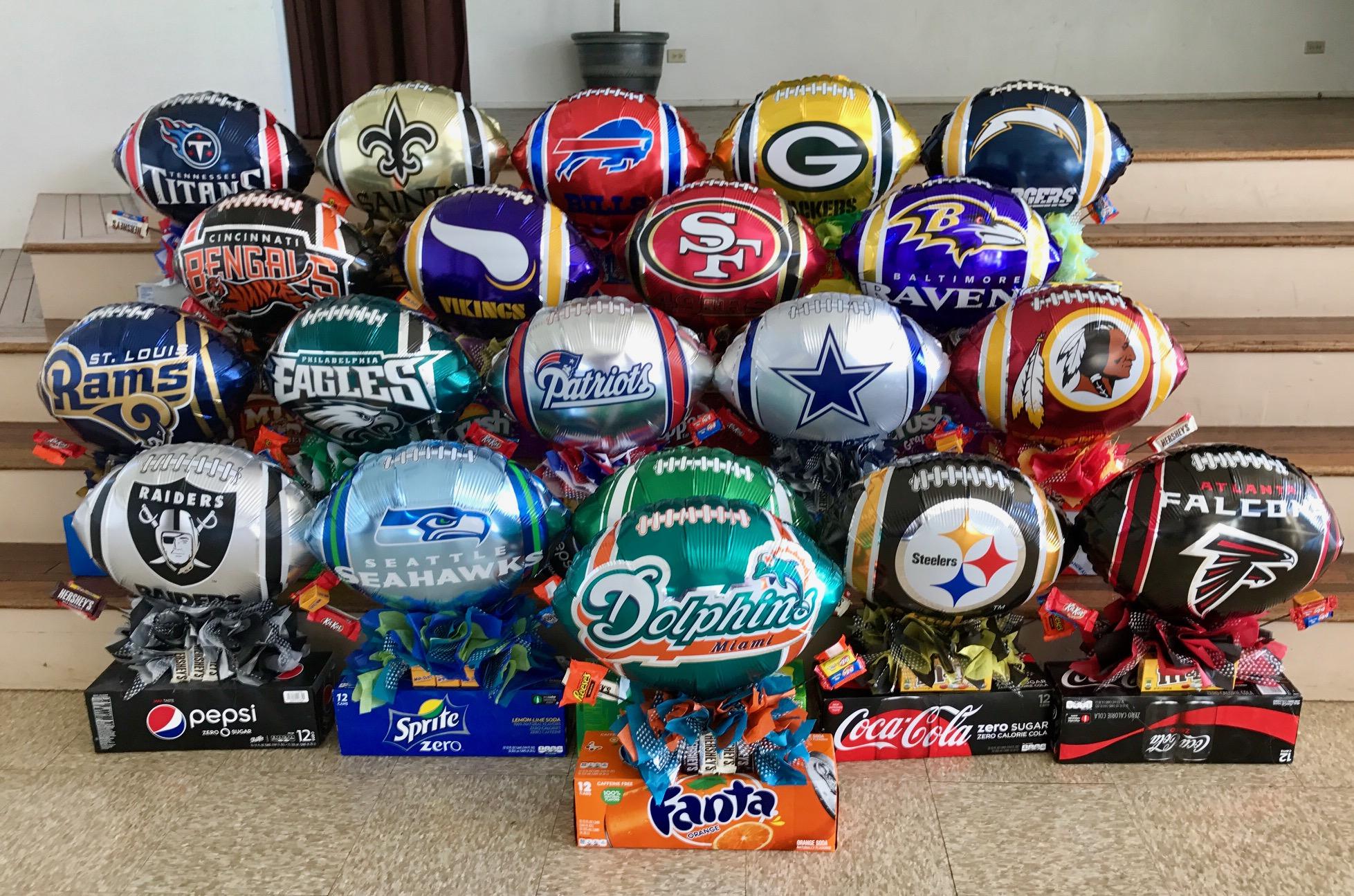 football centerpieces