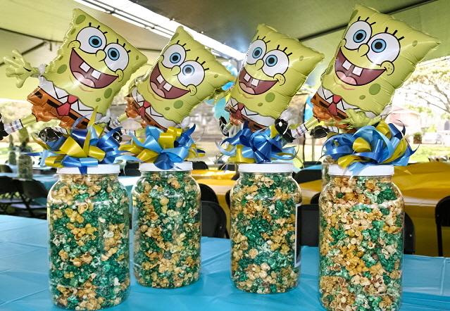 spongebob popcorn centerpieces