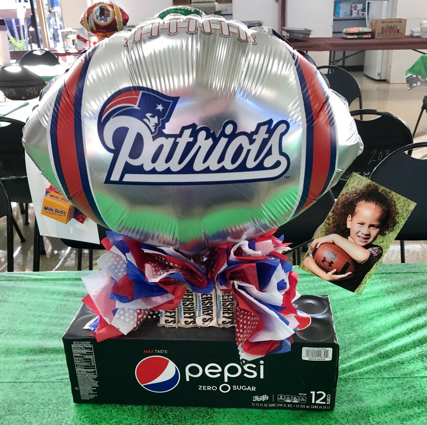 football soda centerpiece