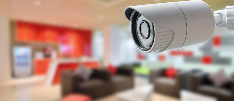 Video Surveillance Camera overlooking living room residential home security alarm company charlottesville richmond harrisonburg virginia