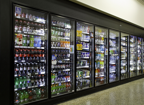 Commercial soda cooler environmental monitoring temperature detection business security