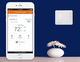 Alarm.com Thermostat monitoring energy management solution remote control security alarm system smart home charlottesville richmond harrisonburg virginia