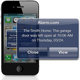 remote access mobile smartphone alarm.com notification Security Alarm Company charlottesville Richmond Harrisonburg Virginia