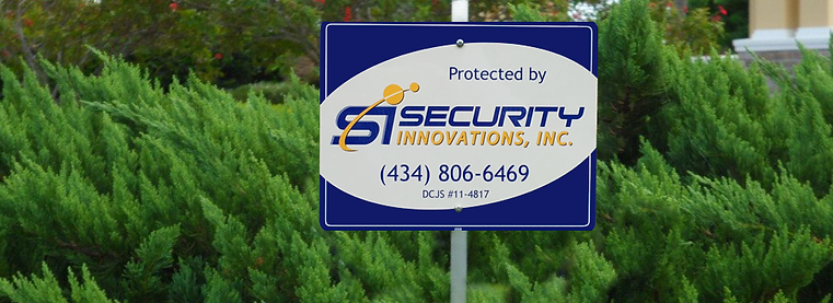 Protected by Security Innovations yard sign