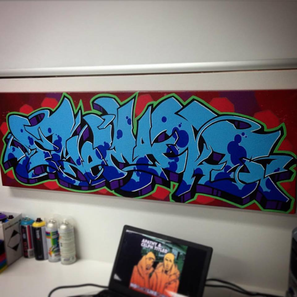 kelly marshall art graffiti script