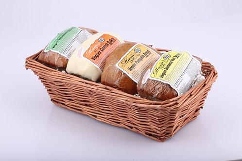 Assorted Mini-Vegan Bread Basket (4 mini loaves)