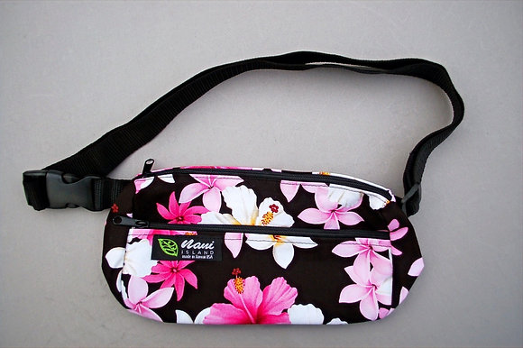 Tropical Fanny Pack Dream of Flowers Black