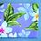 Thumbnail: Tropical Coin Purse New Plumeria Lavender